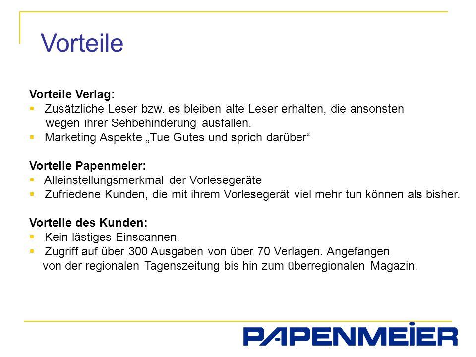 Vorteile Vorteile Verlag: