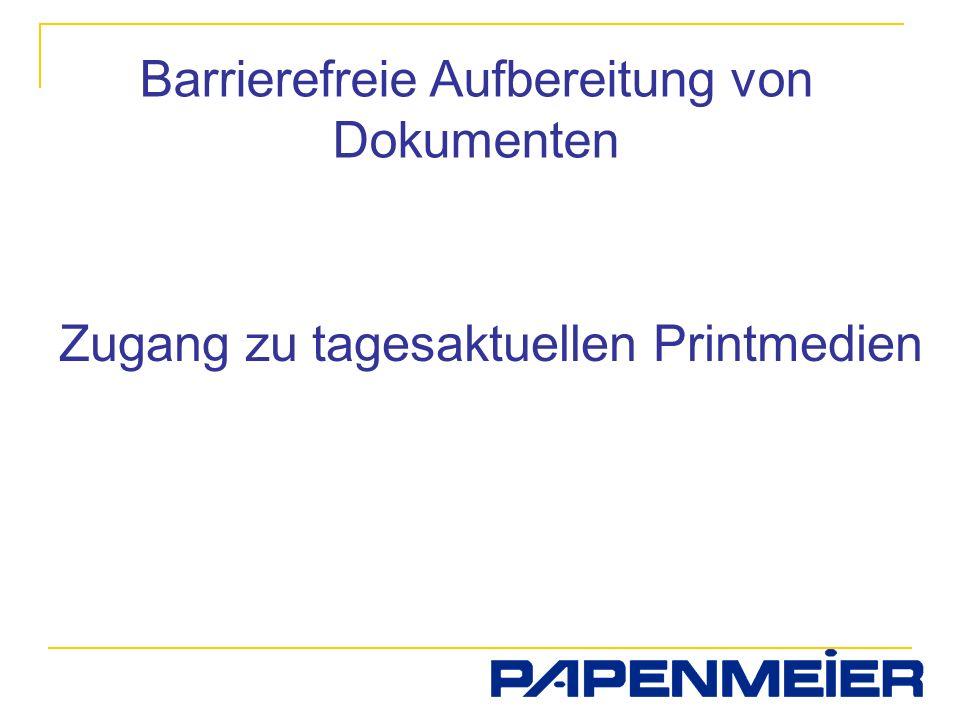 Barrierefreie Aufbereitung von Dokumenten