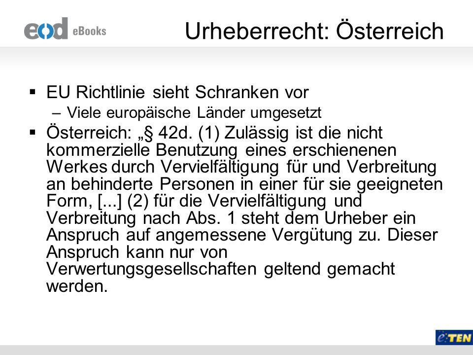 Urheberrecht: Österreich