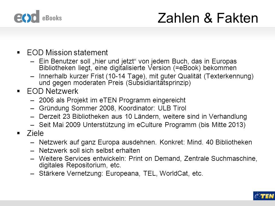 Zahlen & Fakten EOD Mission statement EOD Netzwerk Ziele