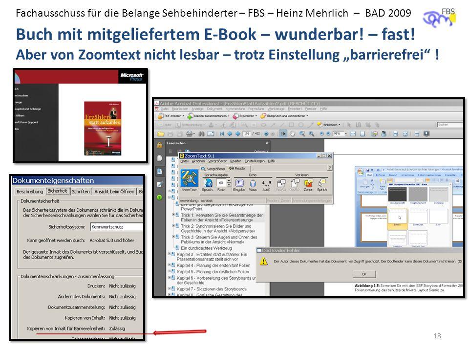 BAD - FBS Buch mit mitgeliefertem E-Book – wunderbar.