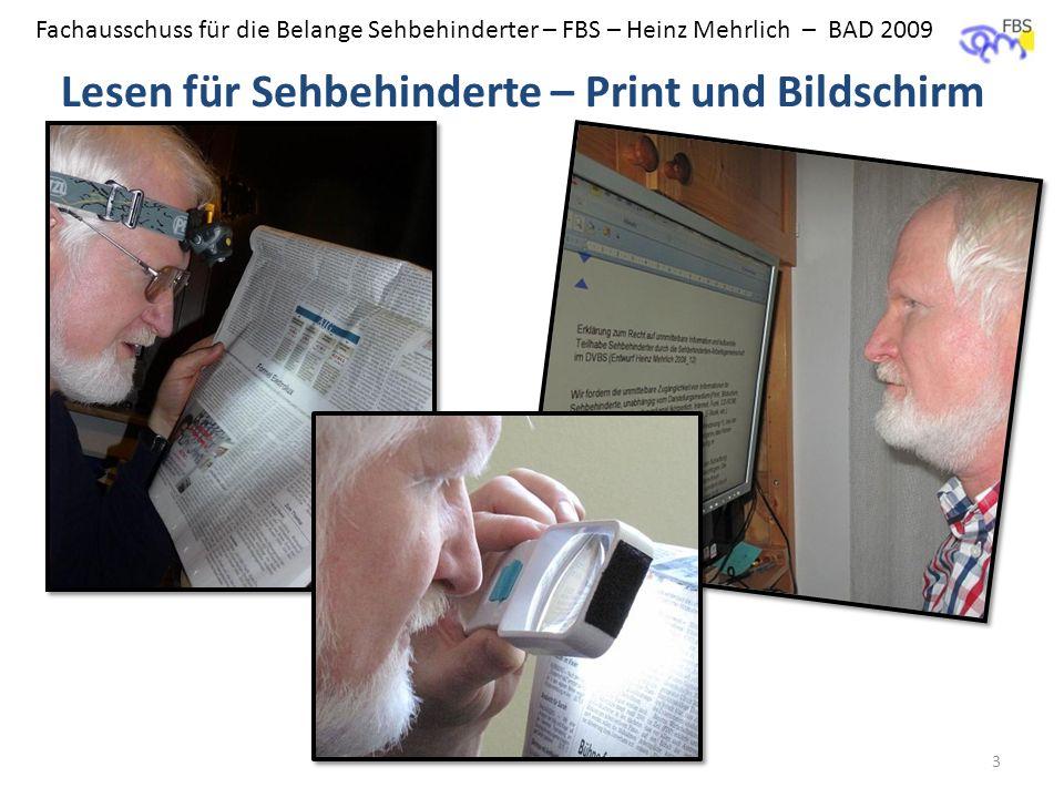 Lesen für Sehbehinderte – Print und Bildschirm