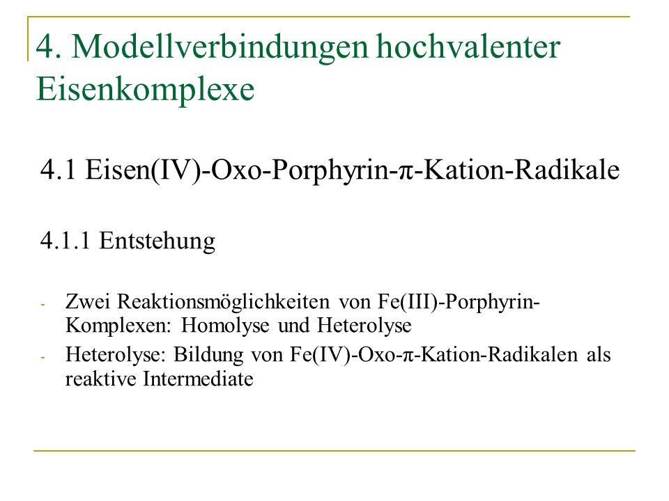 4. Modellverbindungen hochvalenter Eisenkomplexe