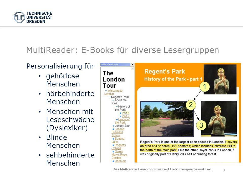 MultiReader: E-Books für diverse Lesergruppen