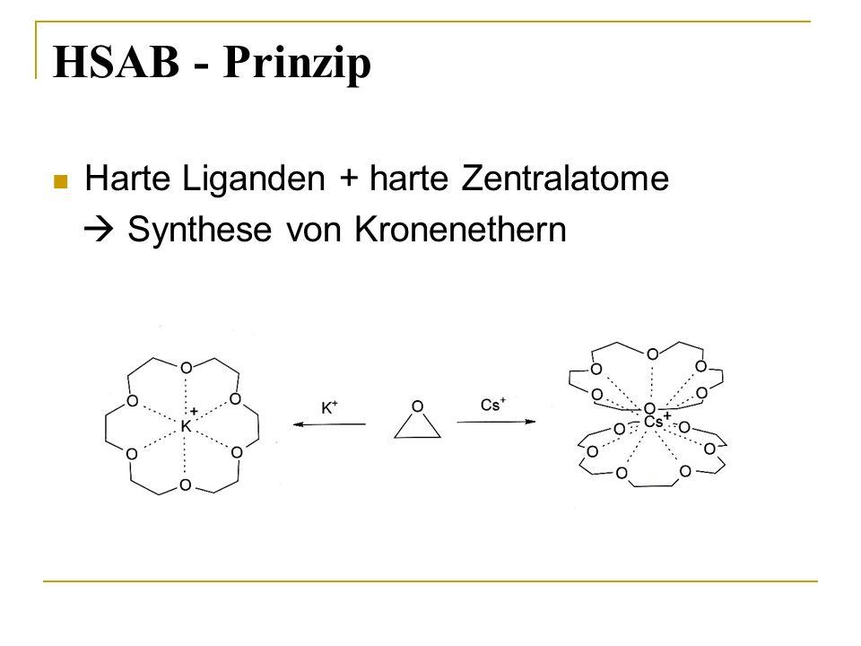 HSAB - Prinzip Harte Liganden + harte Zentralatome