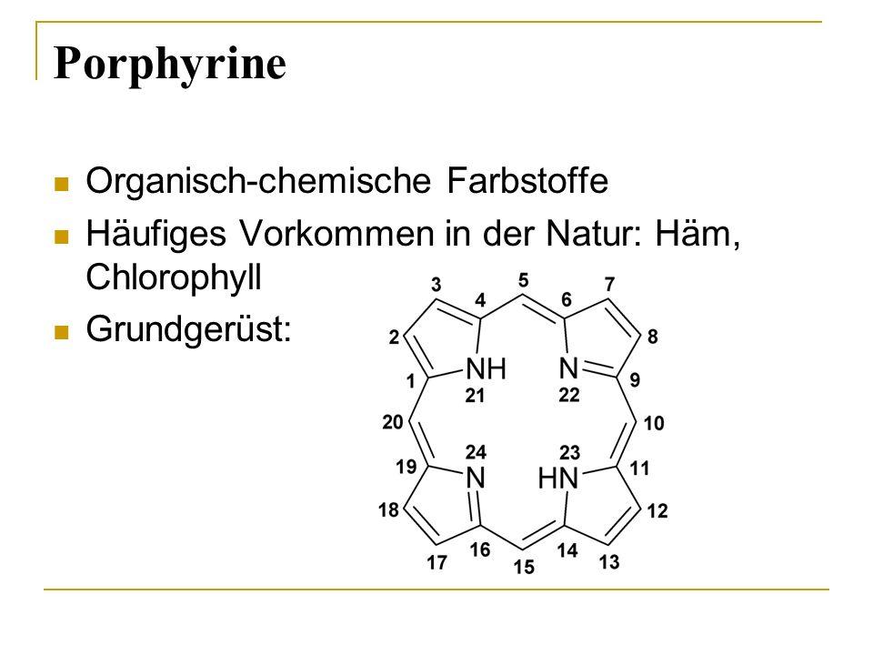 Porphyrine Organisch-chemische Farbstoffe