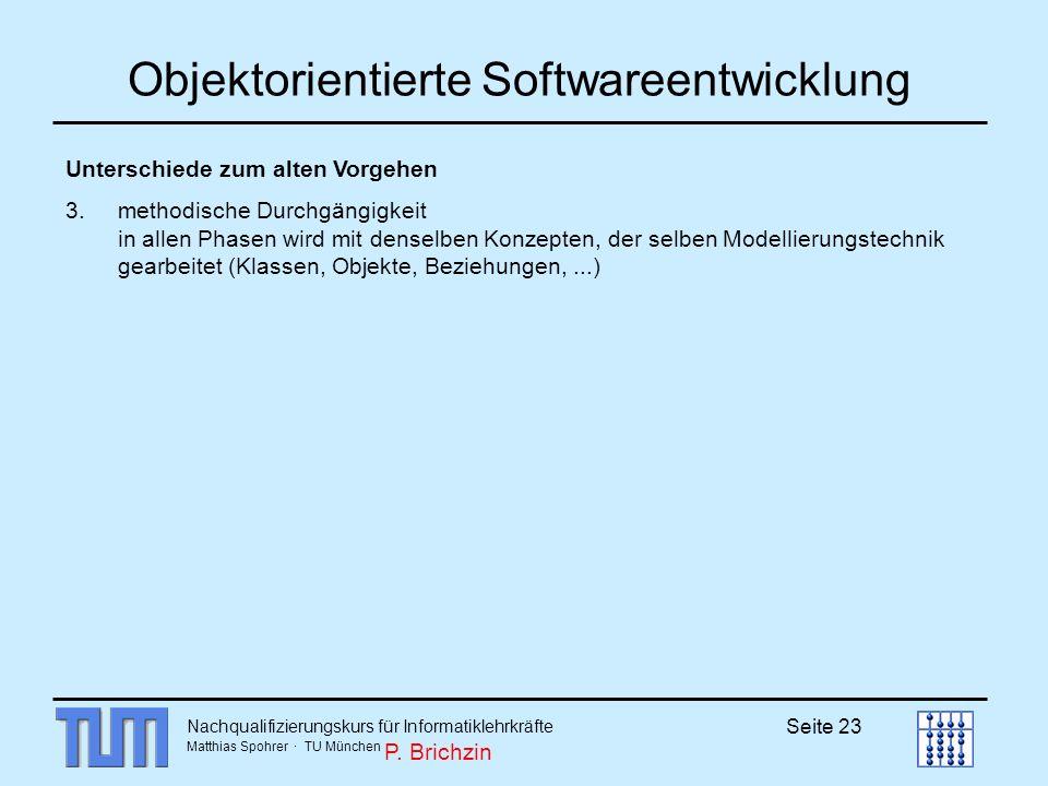Objektorientierte Softwareentwicklung