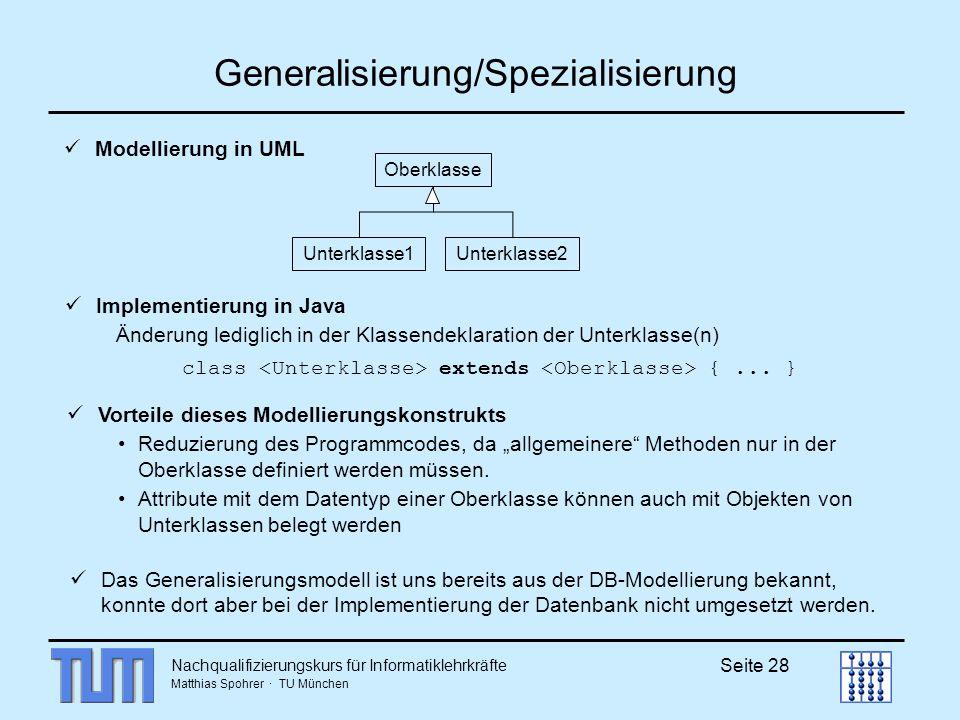 Generalisierung/Spezialisierung