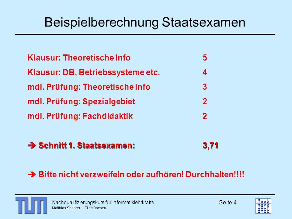 Beispielberechnung Staatsexamen