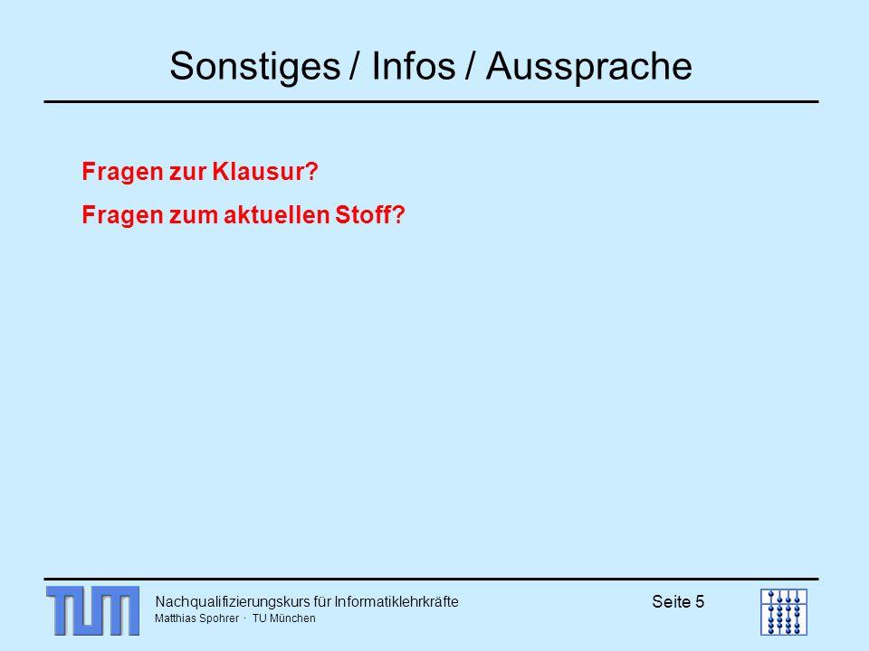 Sonstiges / Infos / Aussprache