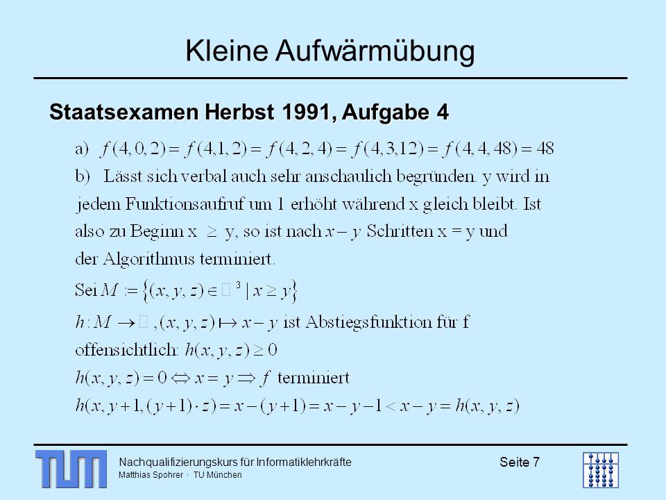 Kleine Aufwärmübung Staatsexamen Herbst 1991, Aufgabe 4