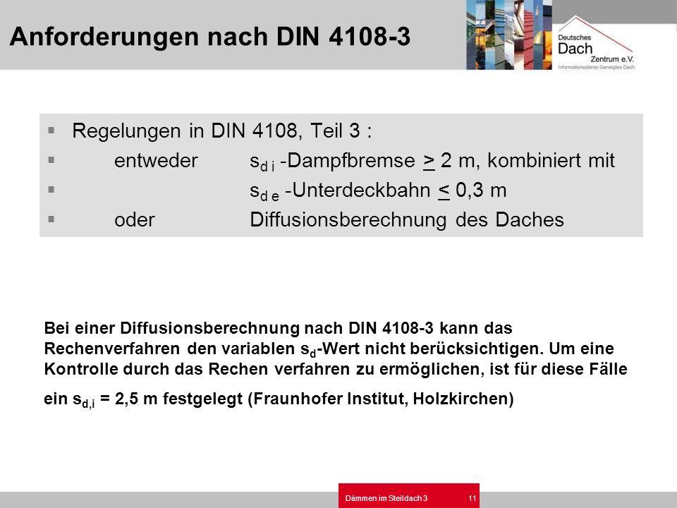 Anforderungen nach DIN 4108-3