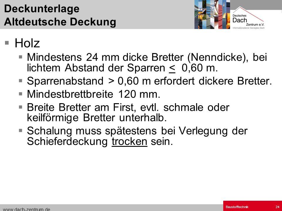 Deckunterlage Altdeutsche Deckung