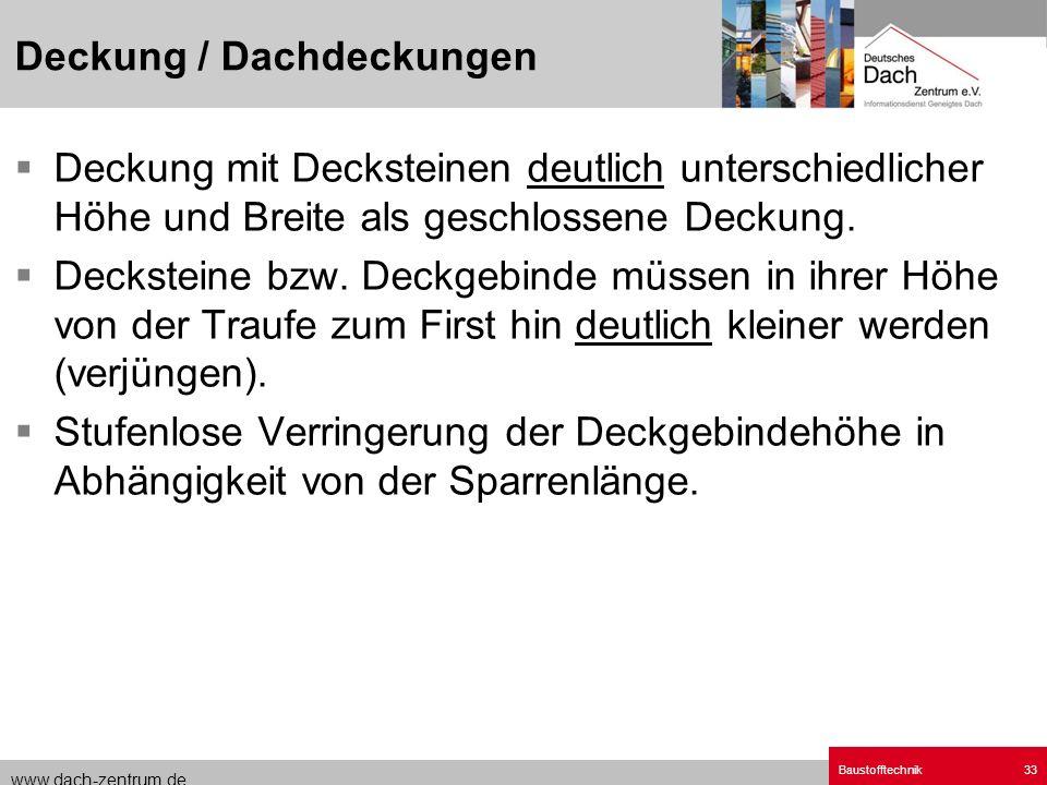 Deckung / Dachdeckungen
