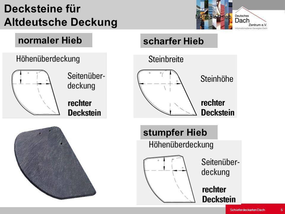 Decksteine für Altdeutsche Deckung