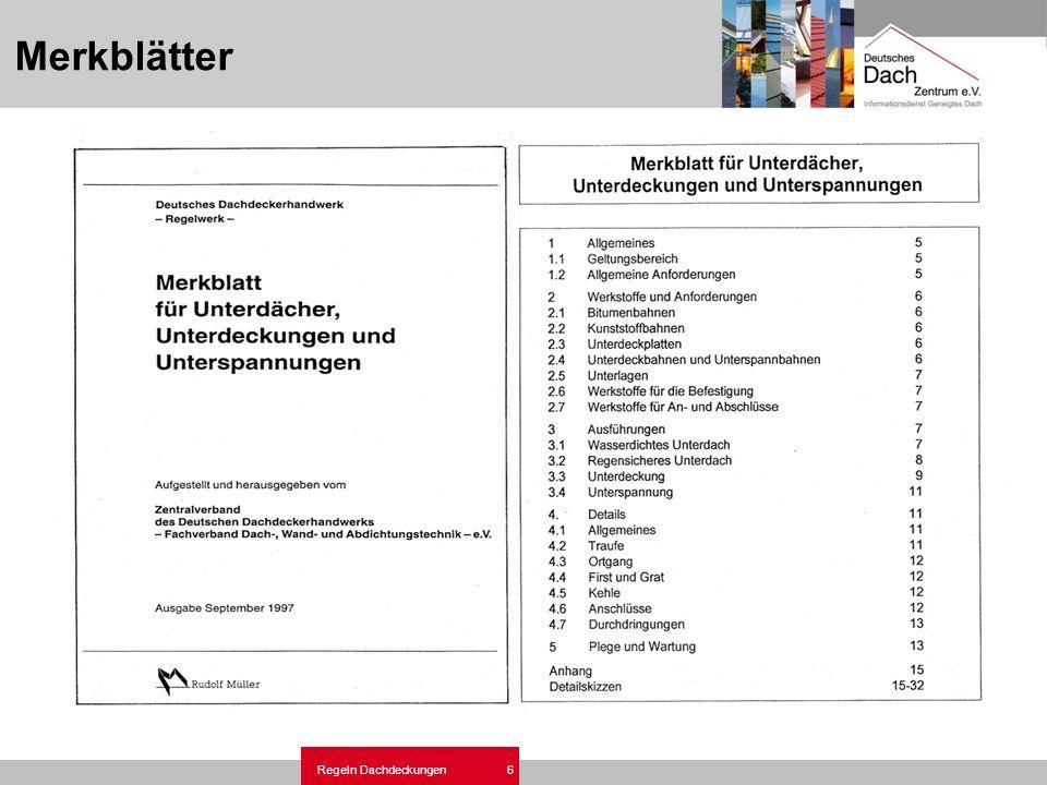 Regeln und Normen Dachdeckungen mit Dachziegel-Dachsteine.ppt