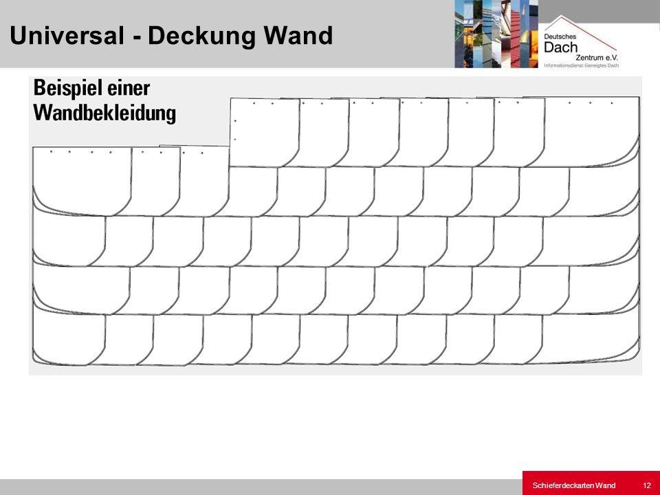 Universal - Deckung Wand