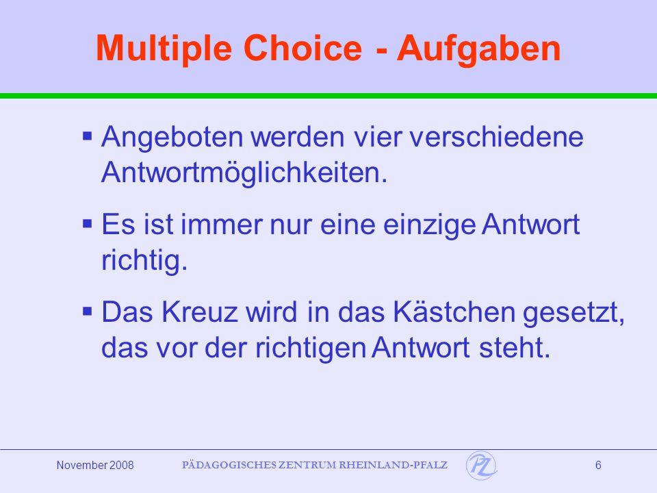 Multiple Choice - Aufgaben
