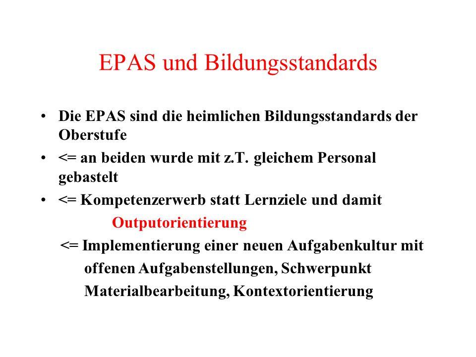 EPAS und Bildungsstandards