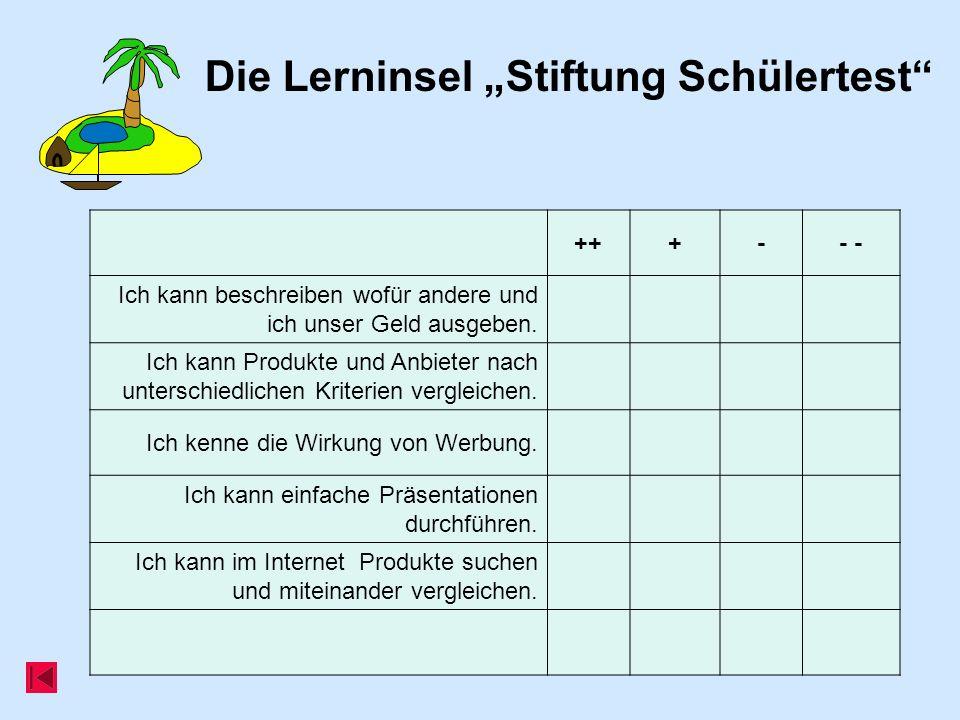 """Die Lerninsel """"Stiftung Schülertest"""