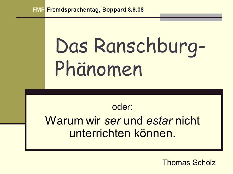 Das Ranschburg-Phänomen