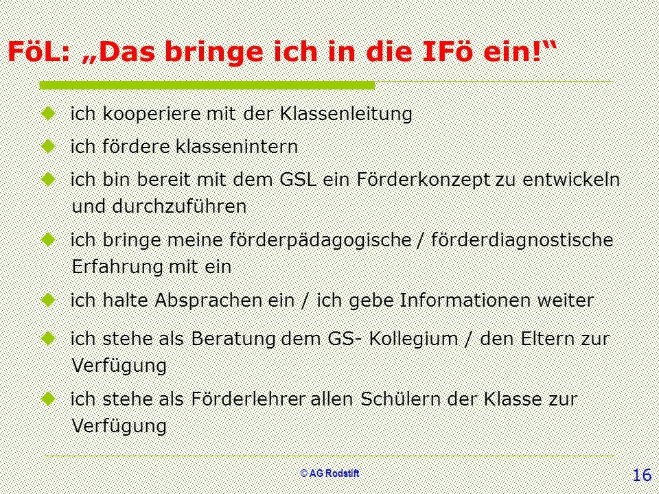 """FöL: """"Das bringe ich in die IFö ein!"""