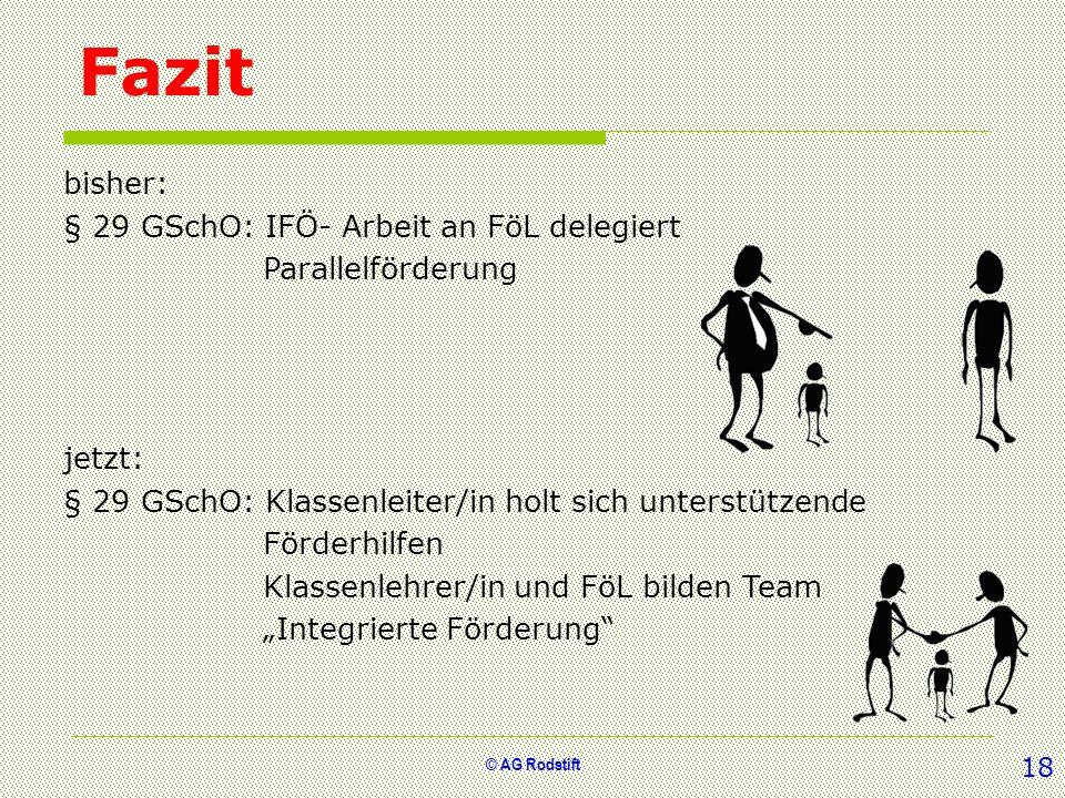 Fazit bisher: § 29 GSchO: IFÖ- Arbeit an FöL delegiert
