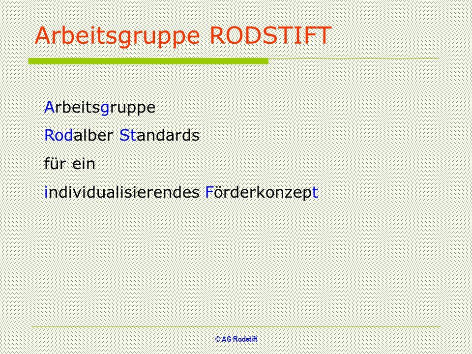 Arbeitsgruppe RODSTIFT