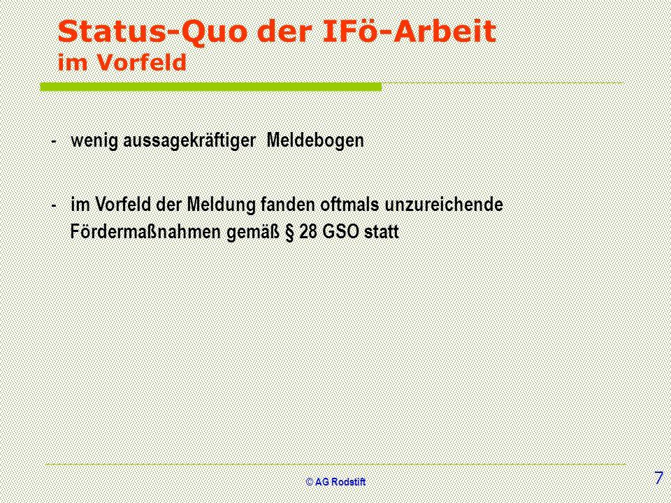 Status-Quo der IFö-Arbeit im Vorfeld