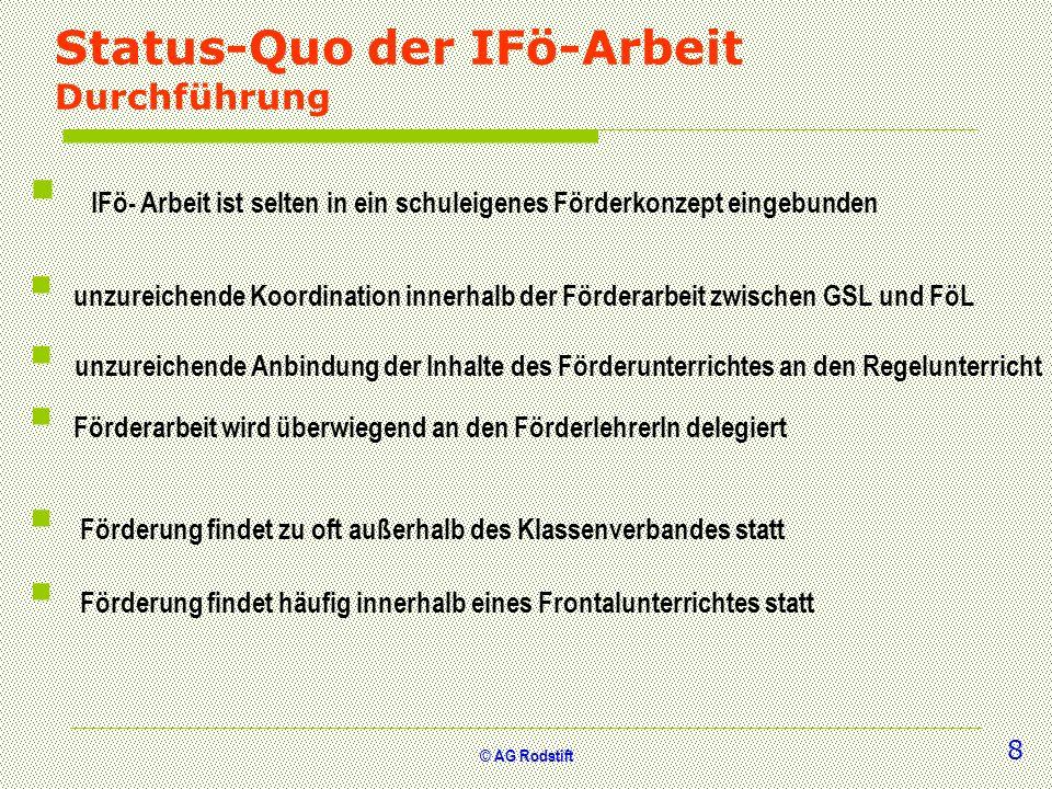 Status-Quo der IFö-Arbeit Durchführung
