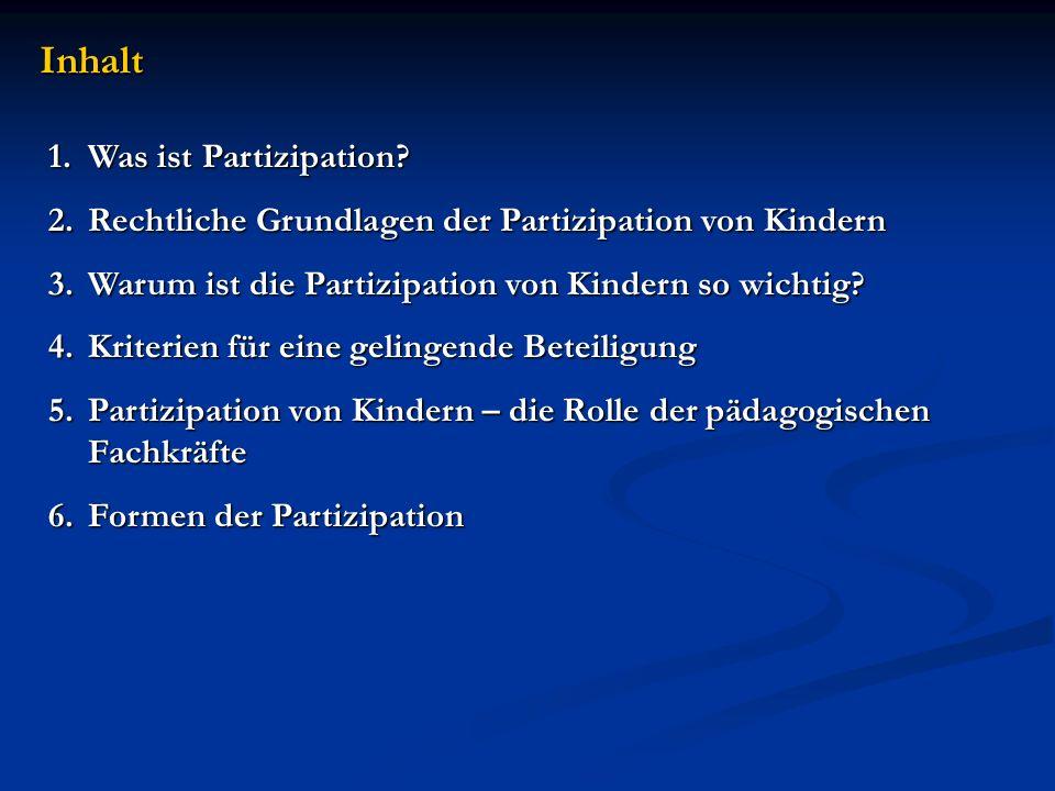 Inhalt Was ist Partizipation