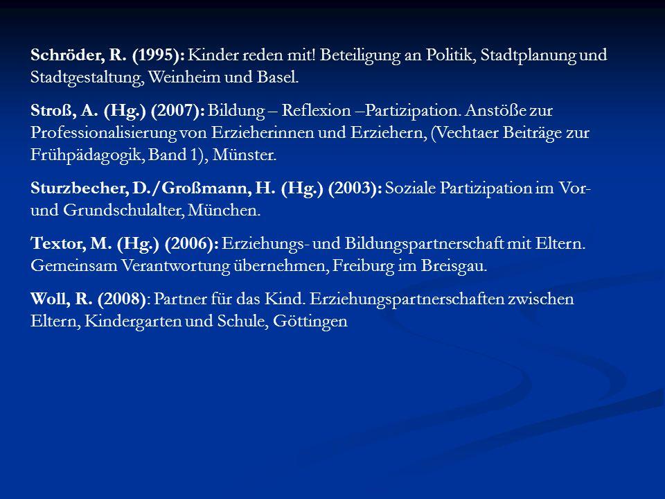 Schröder, R. (1995): Kinder reden mit