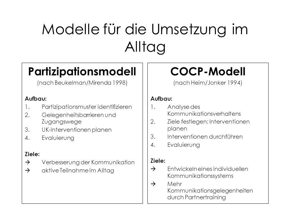 Modelle für die Umsetzung im Alltag