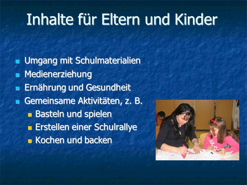 Inhalte für Eltern und Kinder