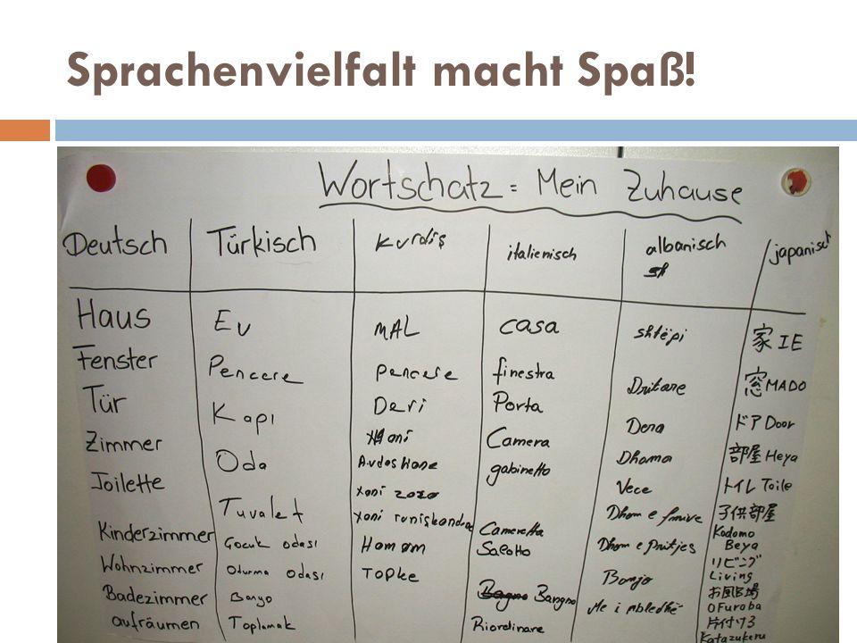 Sprachenvielfalt macht Spaß!