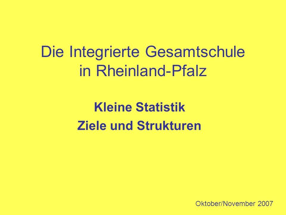 Die Integrierte Gesamtschule in Rheinland-Pfalz