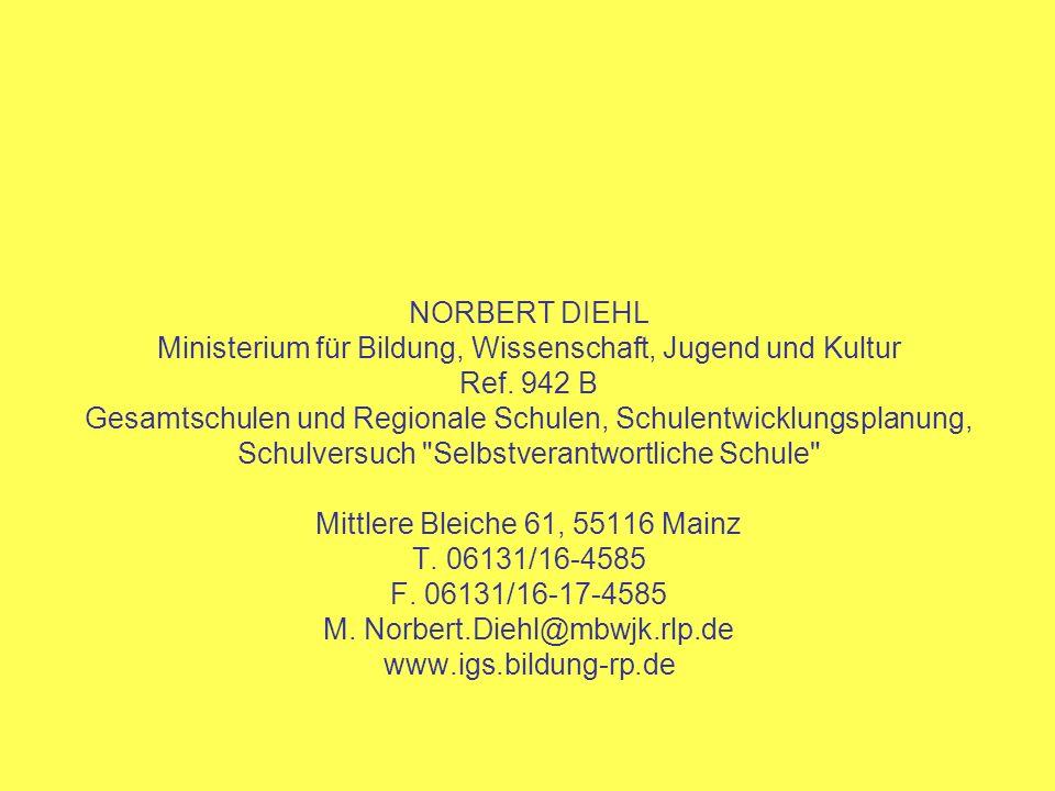 Ministerium für Bildung, Wissenschaft, Jugend und Kultur Ref. 942 B
