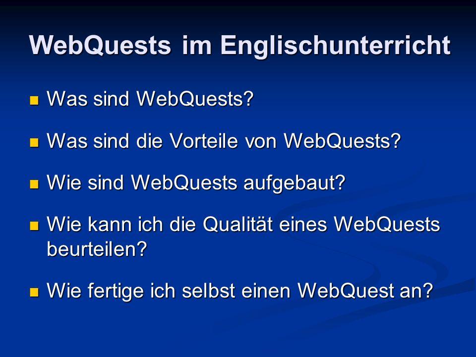 WebQuests im Englischunterricht