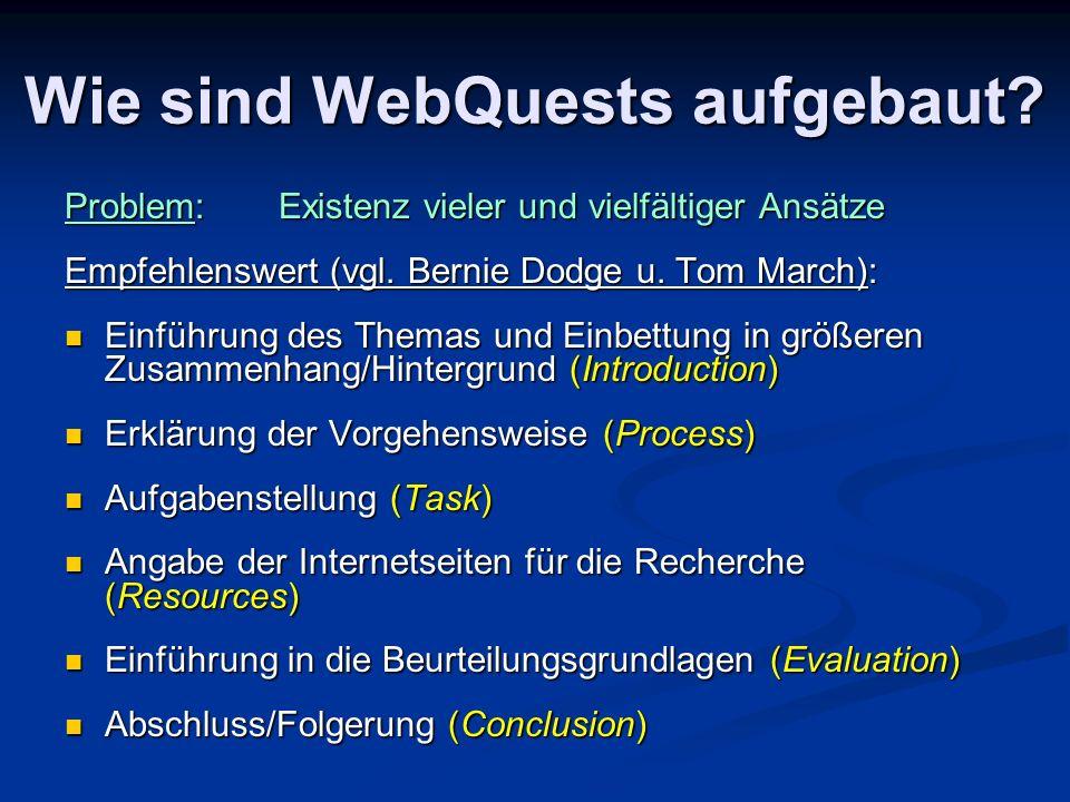 Wie sind WebQuests aufgebaut