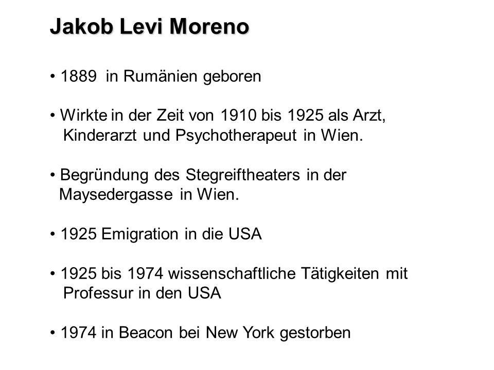 Jakob Levi Moreno 1889 in Rumänien geboren