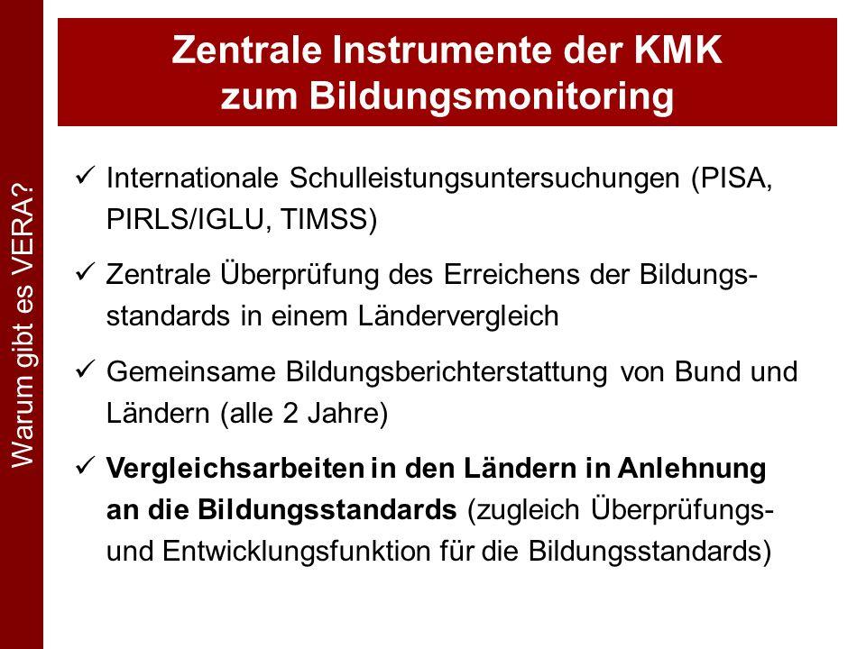 Zentrale Instrumente der KMK zum Bildungsmonitoring