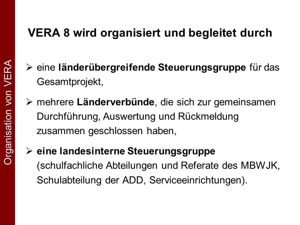 VERA 8 wird organisiert und begleitet durch