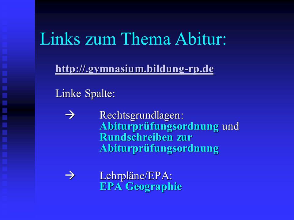 Links zum Thema Abitur: