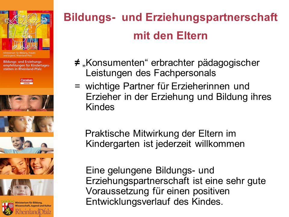 Bildungs- und Erziehungspartnerschaft mit den Eltern