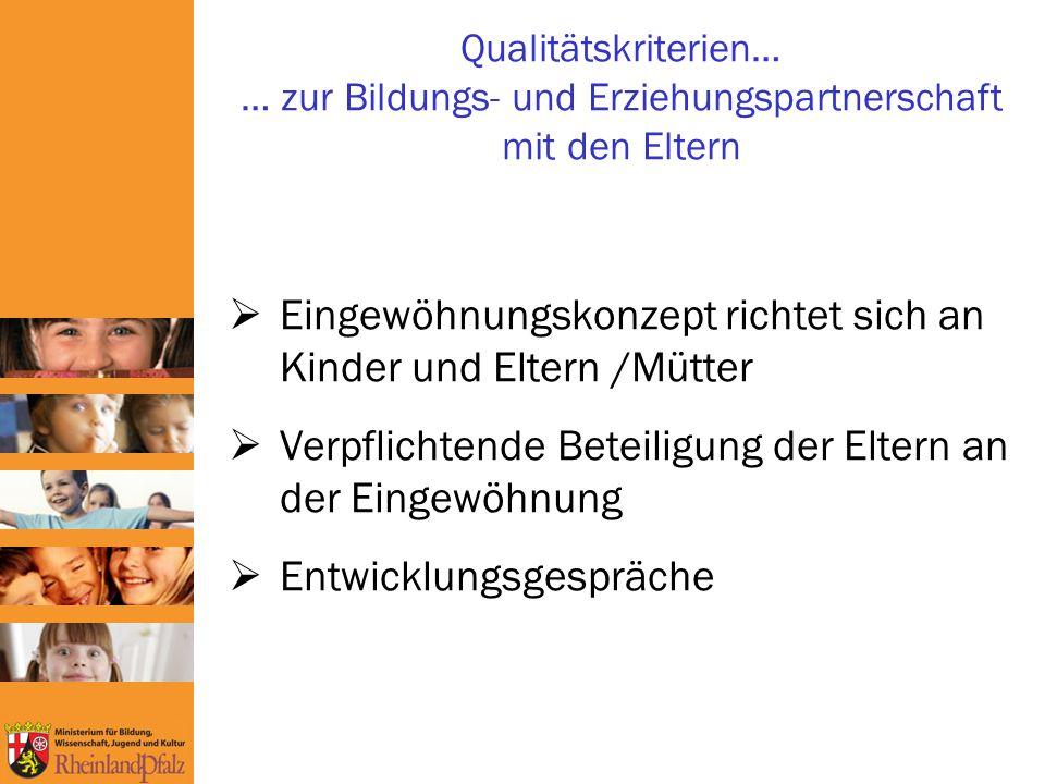 Eingewöhnungskonzept richtet sich an Kinder und Eltern /Mütter