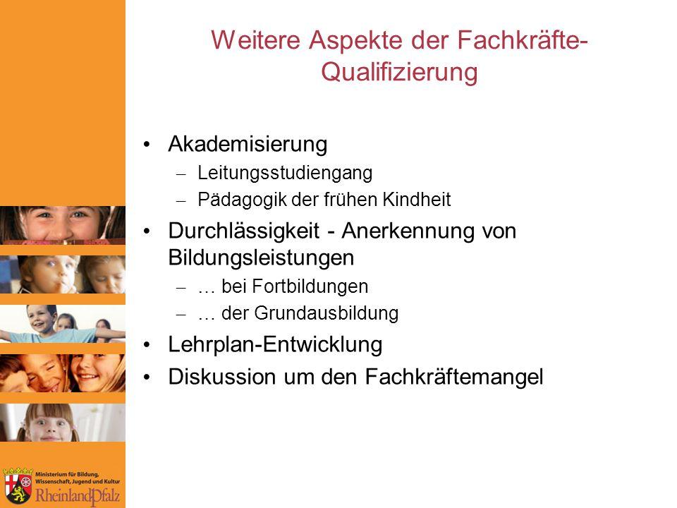 Weitere Aspekte der Fachkräfte-Qualifizierung