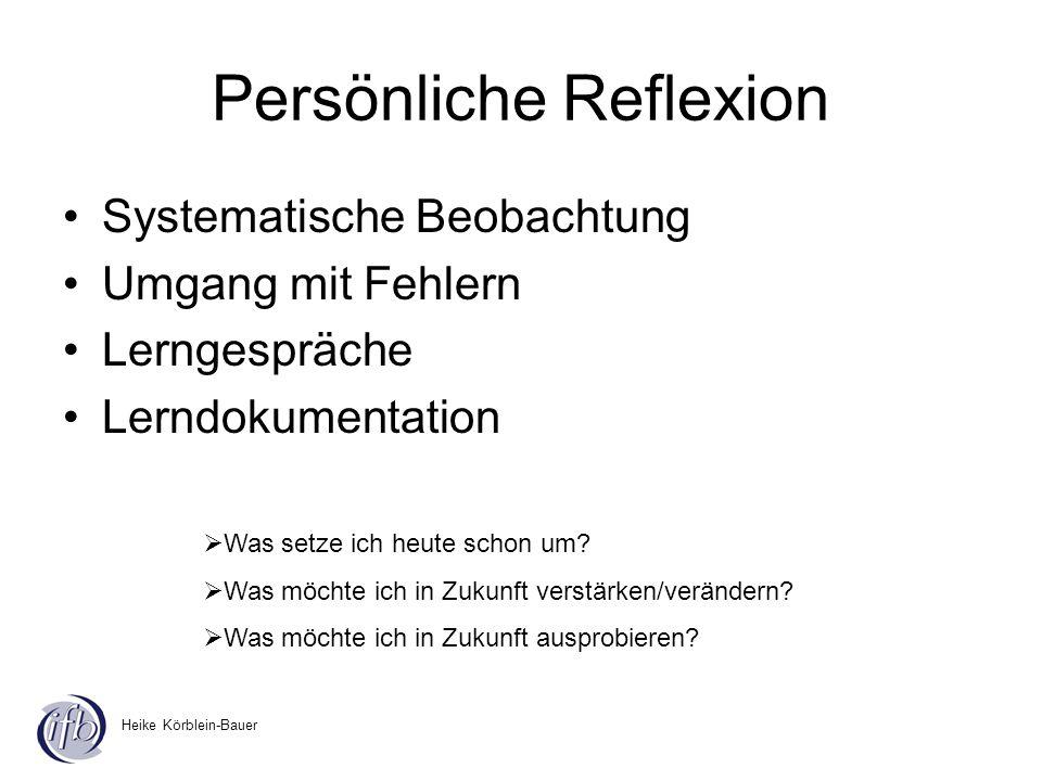 Persönliche Reflexion