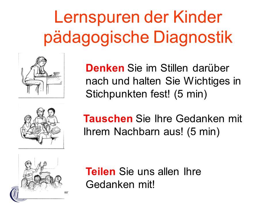 Lernspuren der Kinder pädagogische Diagnostik