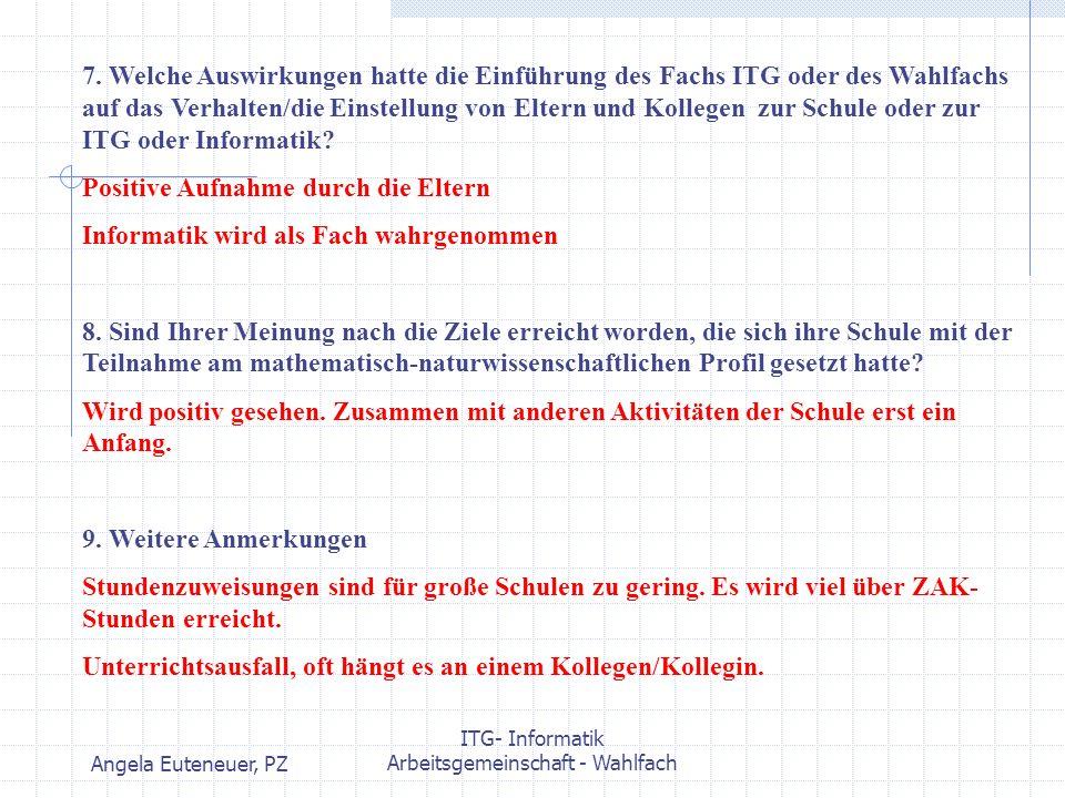 Arbeitsgemeinschaft - Wahlfach