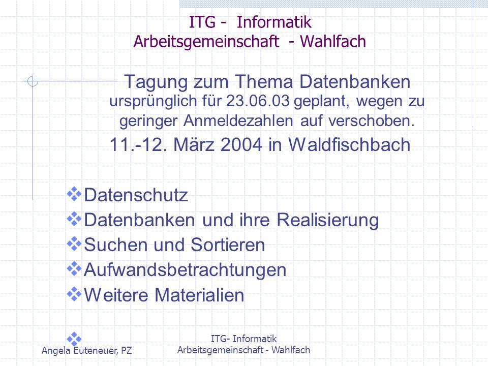 ITG - Informatik Arbeitsgemeinschaft - Wahlfach